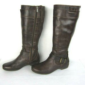 Pikolinos Brown Leather Riding Boots 37 6.5 7 Zip